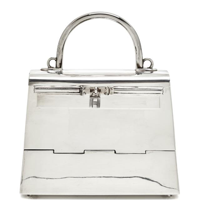 Hermes Sterling Silver Mini Kelly