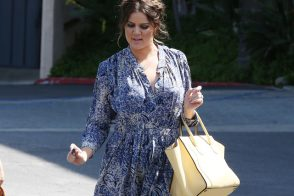 Khloe Kardashian rings in spring with a buttery Celine bag