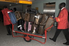 Check out how much Louis Vuitton luggage Kourtney Kardashian and fam brought to London