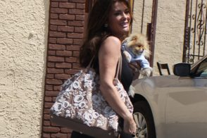Lisa Vanderpump exits dance rehearsals with Valentino on her arm