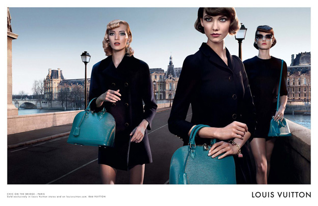 Louis Vuitton Alma Bag Chic on the Bridge Ad Campaign, featuring Karlie Kloss (1)