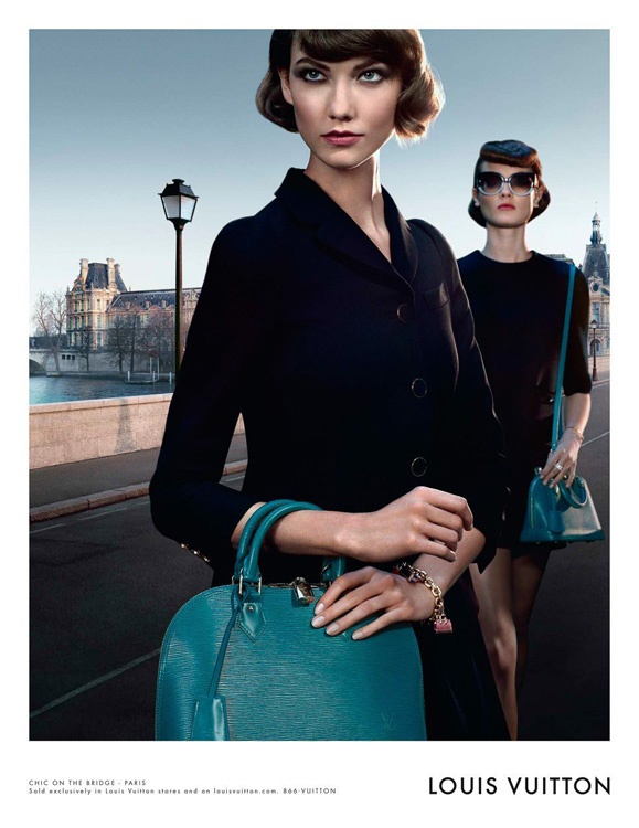 Louis Vuitton Alma Bag Chic on the Bridge Ad Campaign, featuring Karlie Kloss (2)