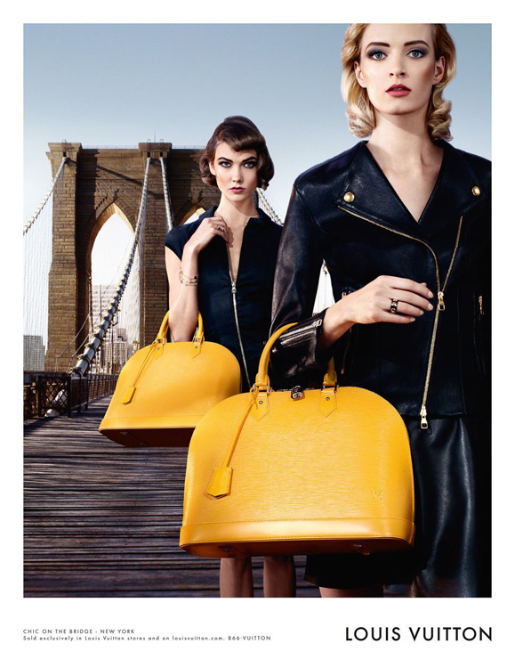 Louis Vuitton Alma Bag Chic on the Bridge Ad Campaign, featuring Karlie Kloss (3)