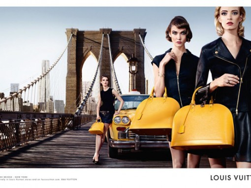Louis Vuitton Alma Bag Chic on the Bridge Ad Campaign, featuring Karlie Kloss (4)
