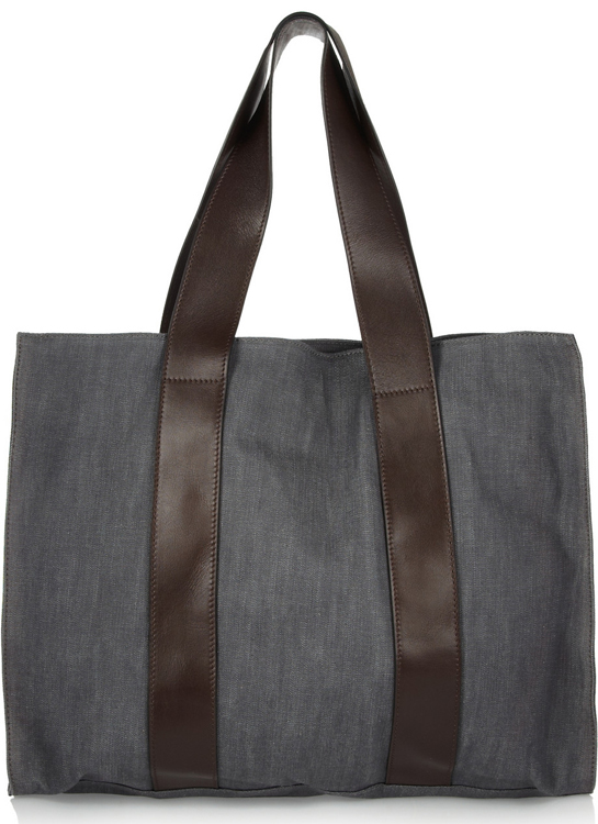 Marni Denim and Leather Tote