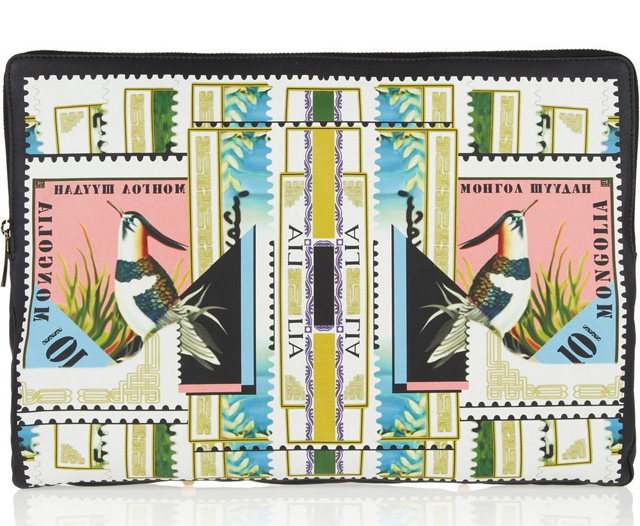 Mary Katrantzou Sorbonne Printed Leather Pouch