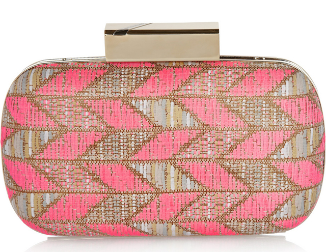 Matthew Williamson Chevron-Weave Box Clutch