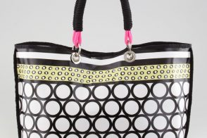 Milly takes this summer tote in a Marni direction