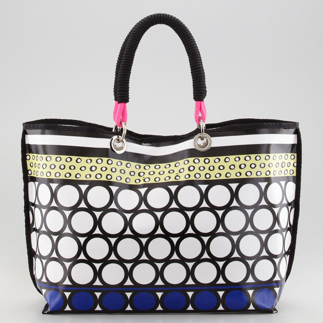 Milly Coated Canvas Tote Bag