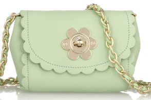 Mulberry Flower Mini Leather Shoulder Bag