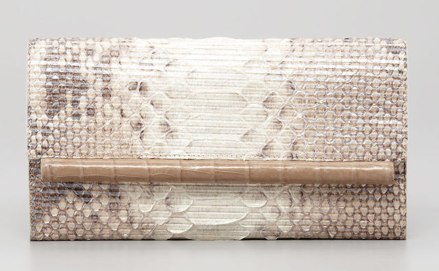 Nancy Gonzalez Python and Glitter Clutch