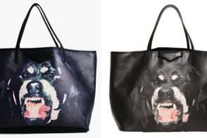 NastyGal rips off the Givenchy Rottweiler Antigona Tote, right down to the photo