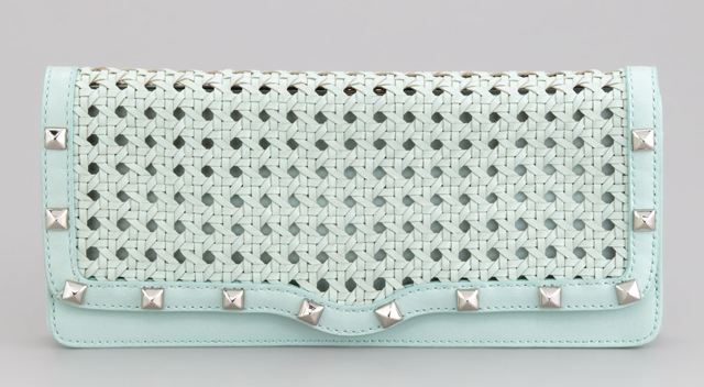 Rebecca Minkoff Wicker-Woven Leather Clutch