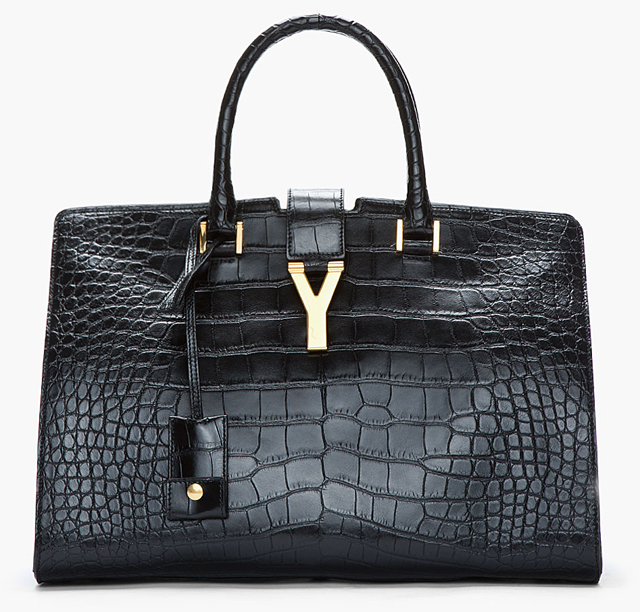 yves st laurent mens bags - The Saint Laurent Cabas now comes in pricey alligator - PurseBlog