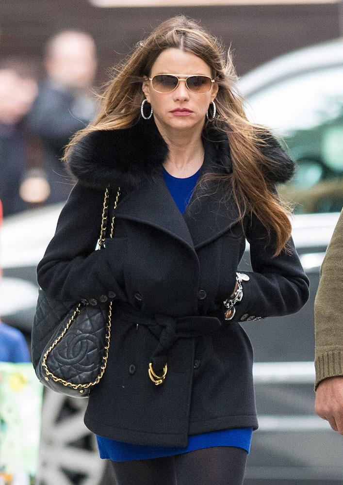 Sofia Vergara Chanel Soft Shoulder Bag