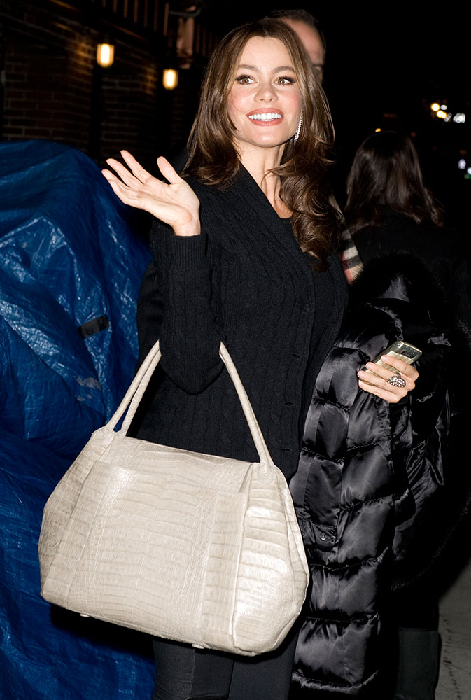Sofia Vergara Nancy Gonzalez Crocodile Shoulder Bag