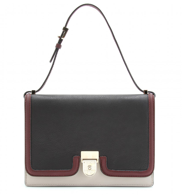 Victoria Beckham Colorblock Leather Shoulder Bag