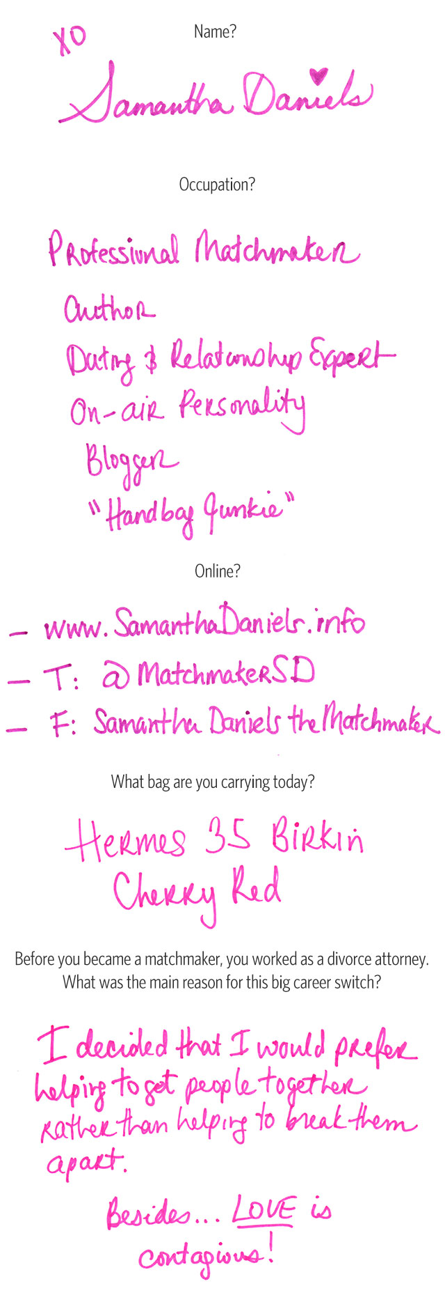 What's In Her Bag: Samantha Daniels (1)