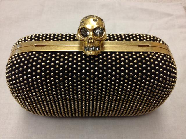 Alexander McQueen Skull Studded Box Clutch