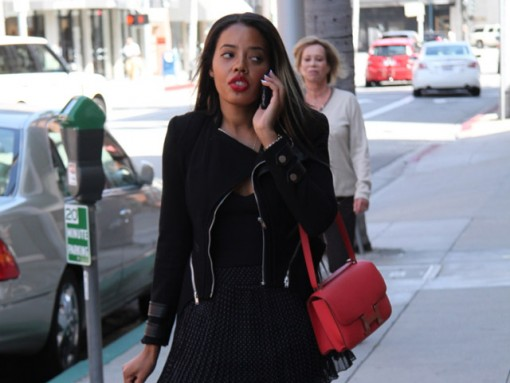 Angela Simmons carries a pink Hermes Constance Bag (5)