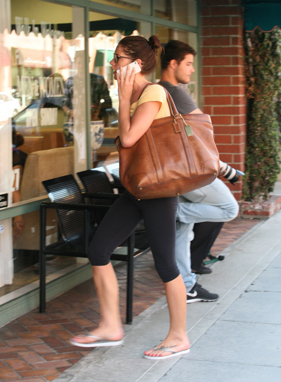 Ashley Greene carries a Coach Bleecker Legacy Weekend Tote (3)
