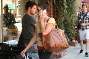 Ashley Greene Takes a Coach Tote to Her Mani/Pedi