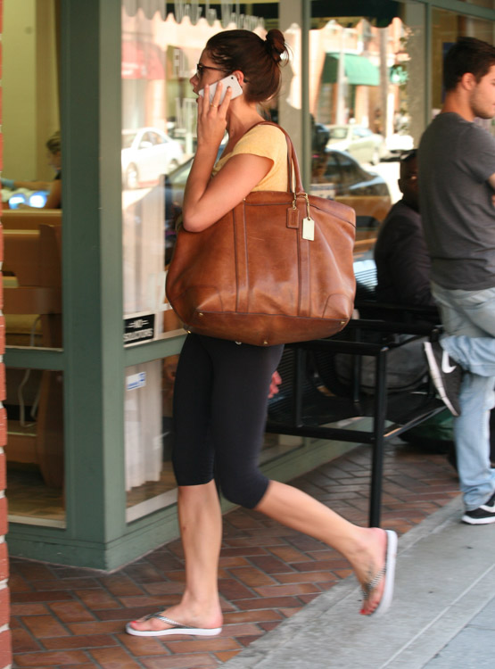Ashley Greene carries a Coach Bleecker Legacy Weekend Tote (2)