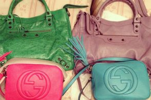 Balenciaga and Gucci Bags