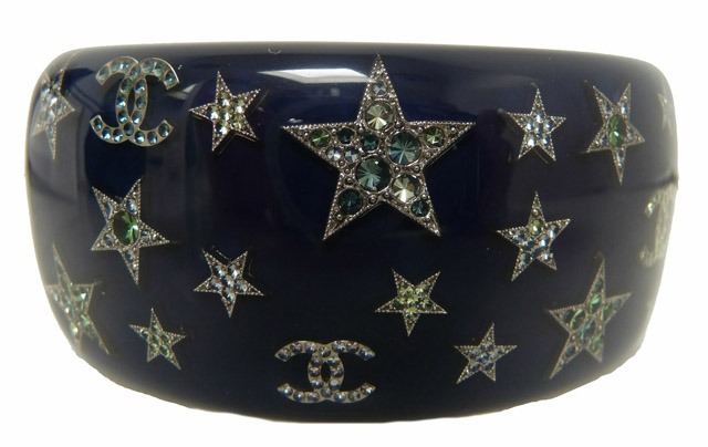 Chanel Resin Swarovski CC Cuff