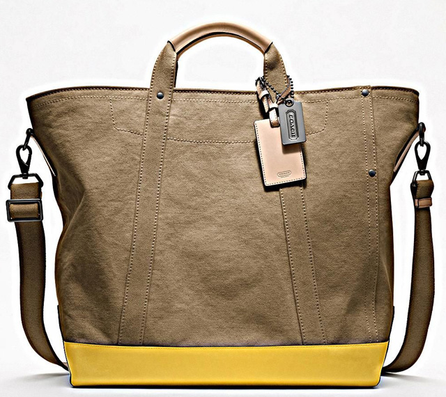 Coach Washed Canvas Beach Tote