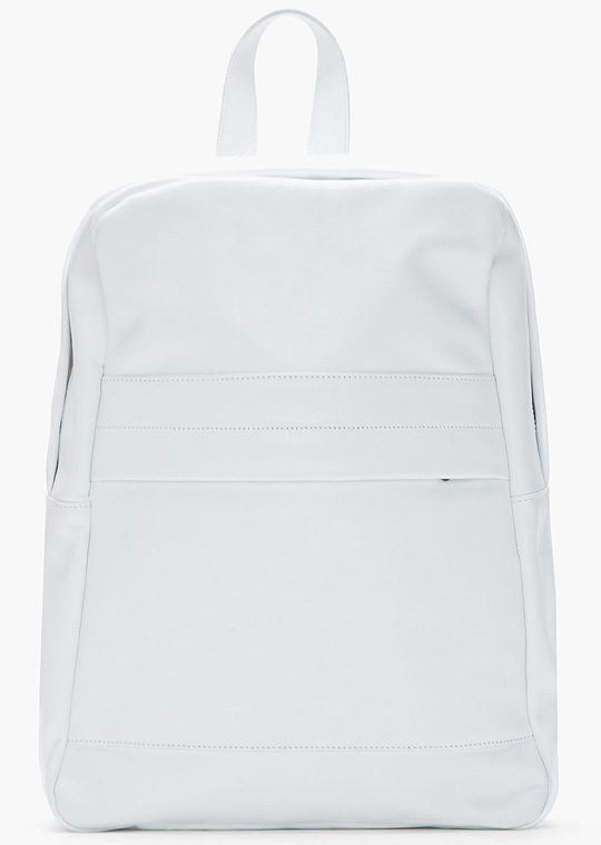 Common Projects White Classic Leather Backpack