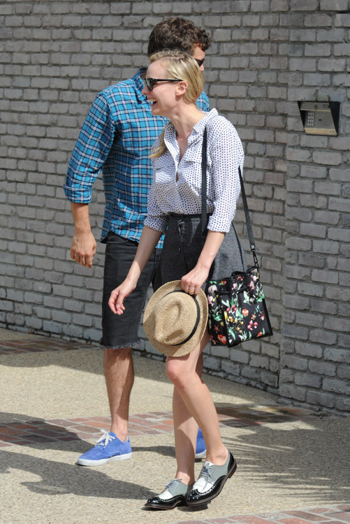 Diane Kruger carries a 3.1 Phillip Lim Scout Floral Shoulder Bag (1)