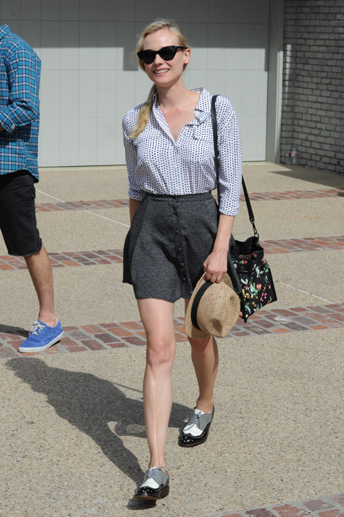Diane Kruger carries a 3.1 Phillip Lim Scout Floral Shoulder Bag (3)