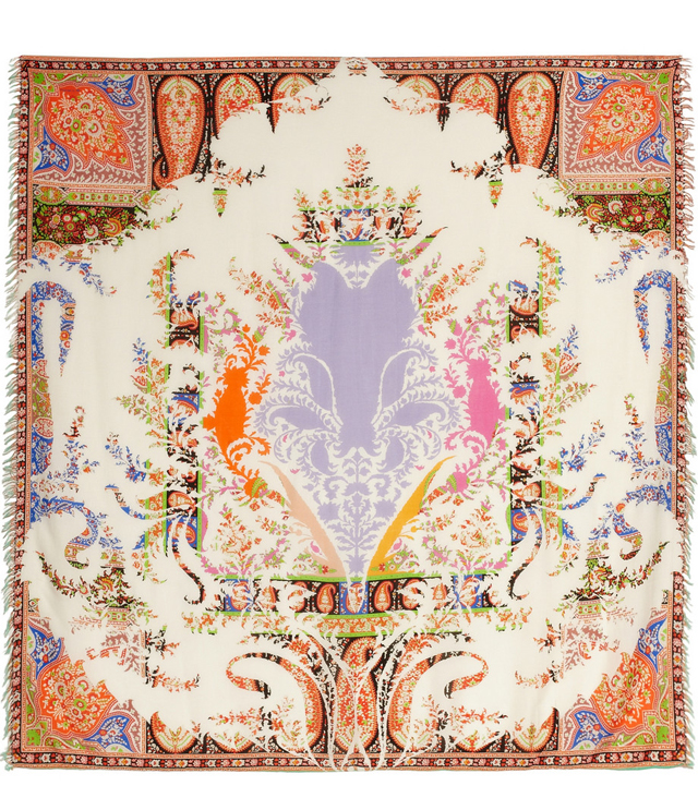 Etro Modal and Cashmere Printed Scarf