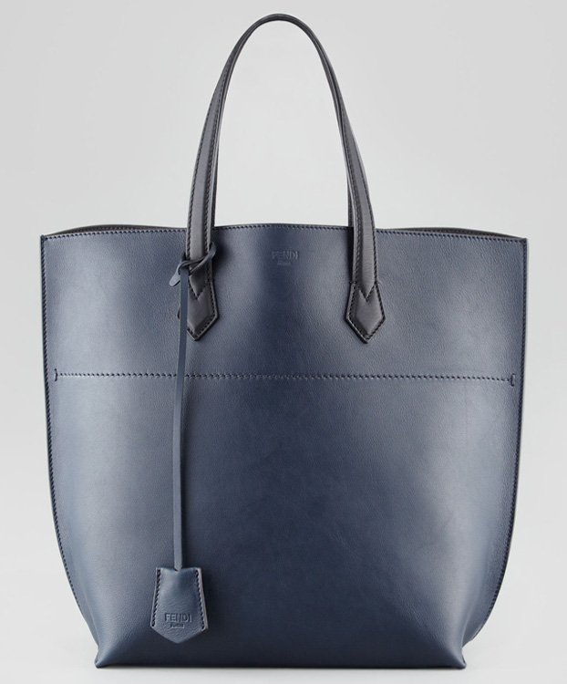 Fendi Leather Shopping Tote Bag