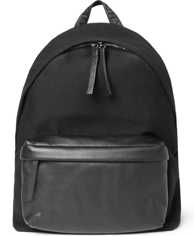 Givenchy Leather and Jersey Backpack