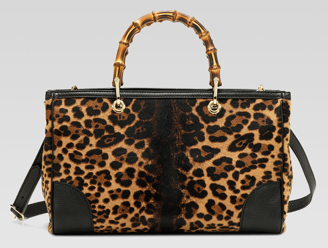 Gucci Bamboo Jaguar Shopper Tote