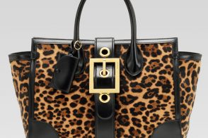Gucci embraces big buckles, animal print for Fall 2013