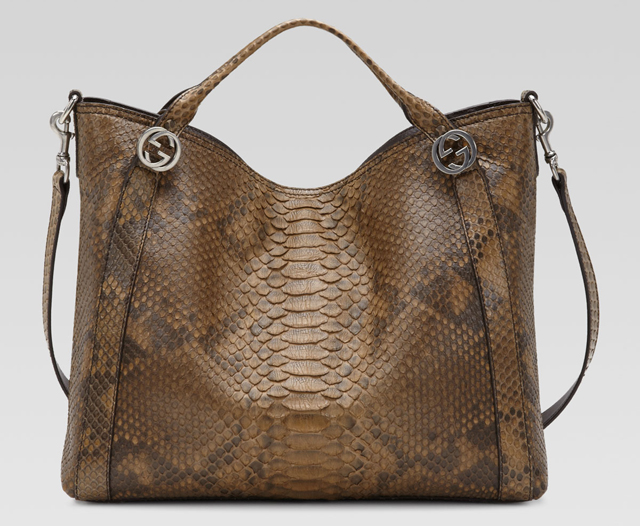 Gucci Miss GG Python Top Handle Bag