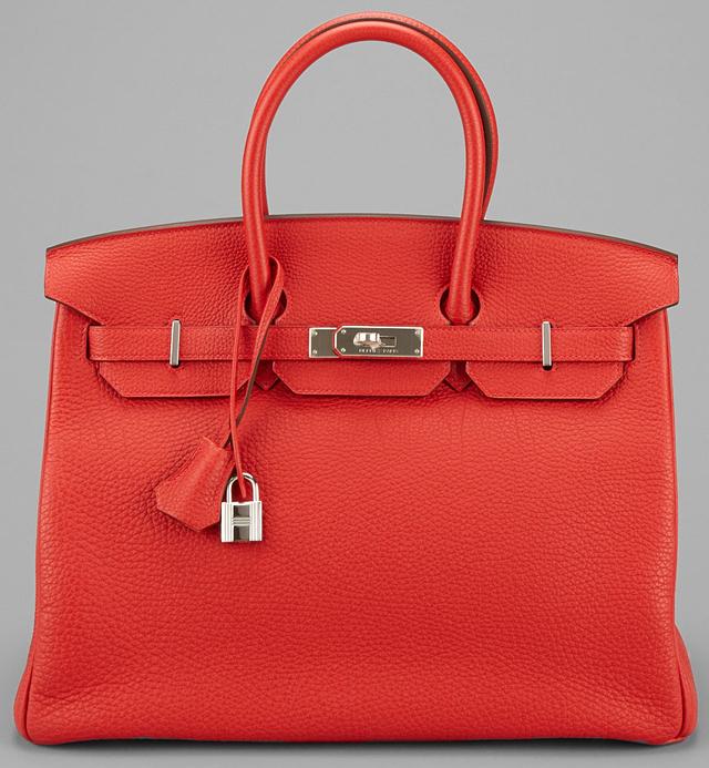 Hermes Birkin Red Garance Leather 35cm