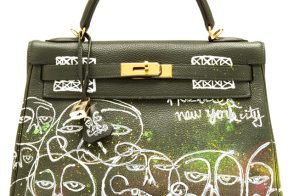 Hermes Kelly Bag 32cm with Haculla Graffiti