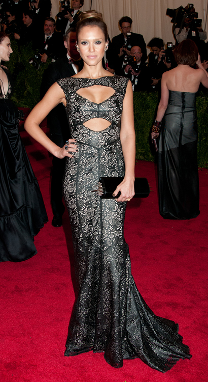 Jessica Alba Met Gala Christian Louboutin Marquise Clutch