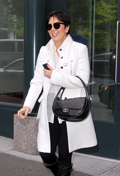 Kris Jenner carries a black Chanel Hula Hoop Flap Bag (2)