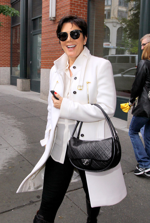 Kris Jenner carries a black Chanel Hula Hoop Flap Bag (4)