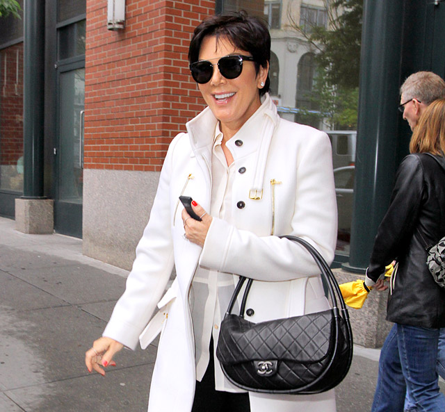 Kris Jenner carries a black Chanel Hula Hoop Flap Bag (5)