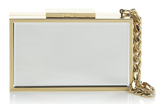 Lanvin Mirrored Minaudiere Bag