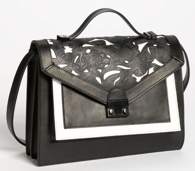 Loeffler Randall Rider Leather Satchel