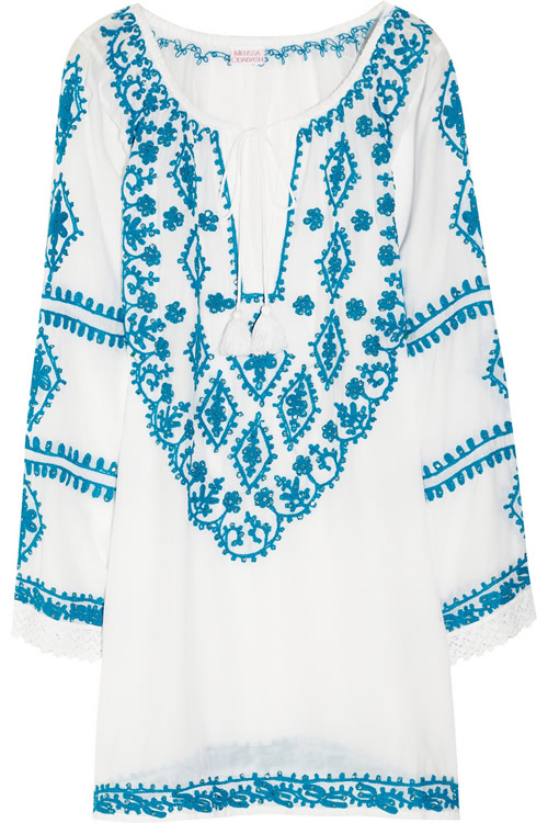 Melissa Odabash Laura Embroidered Voile Dress