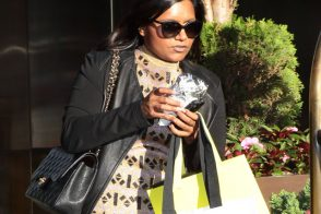 Mindy Kaling goes shopping with a Chanel flap bag