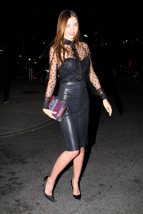 "Miranda Kerr carries an Olympia Le-Tan F. Scott Fitzgerald ""The Last Tycoon"" Book Clutch in New York City (2)"